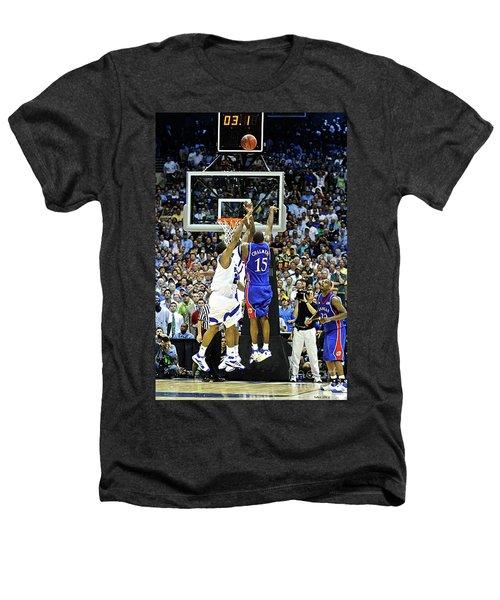 The Shot, 3.1 Seconds, Mario Chalmers Magic, Kansas Basketball 2008 Ncaa Championship Heathers T-Shirt by Thomas Pollart