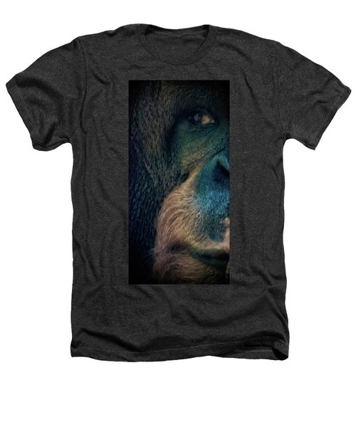 The Shy Orangutan Heathers T-Shirt by Martin Newman