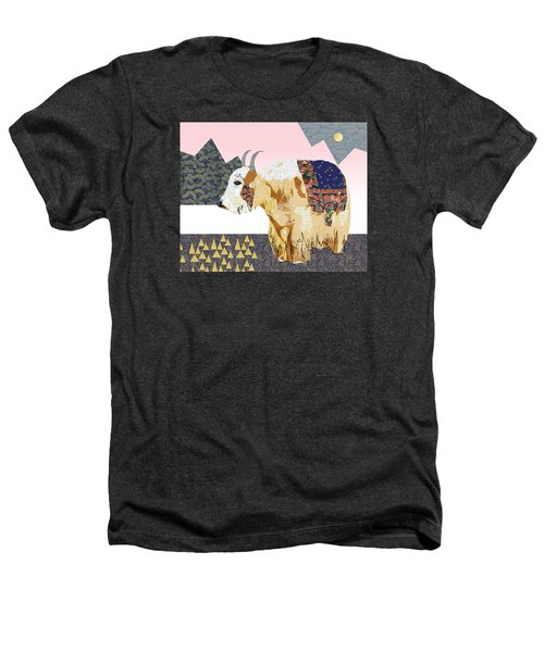Tibet Yak Collage Heathers T-Shirt by Claudia Schoen