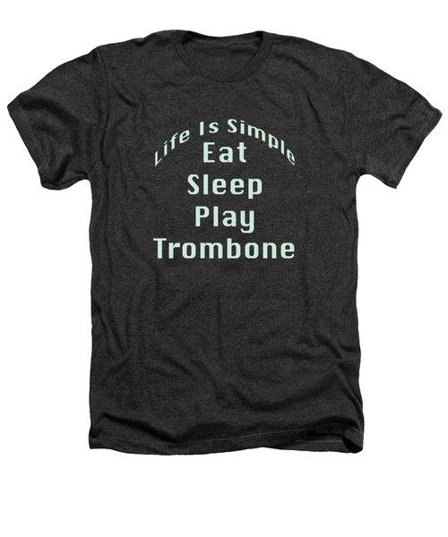Trombone Eat Sleep Play Trombone 5518.02 Heathers T-Shirt by M K  Miller