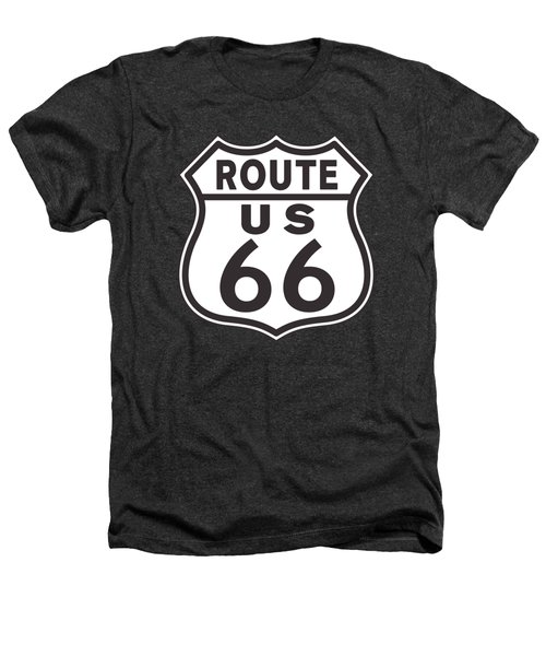 Us Route 66 Sign Heathers T-Shirt