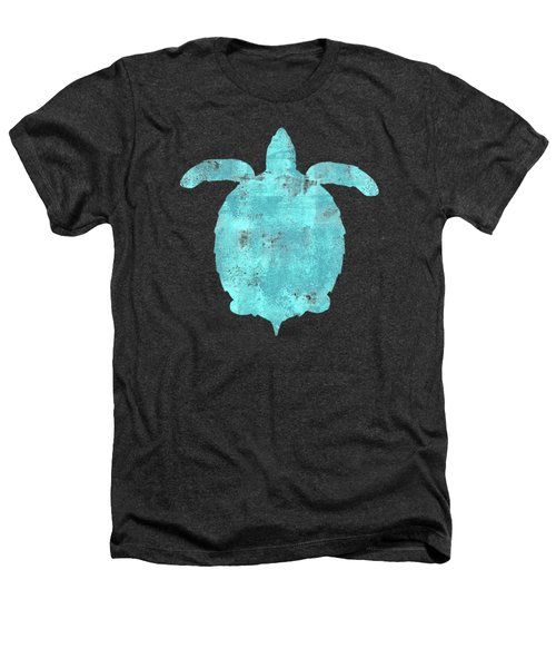 Vibrant Blue Sea Turtle Beach House Coastal Art Heathers T-Shirt