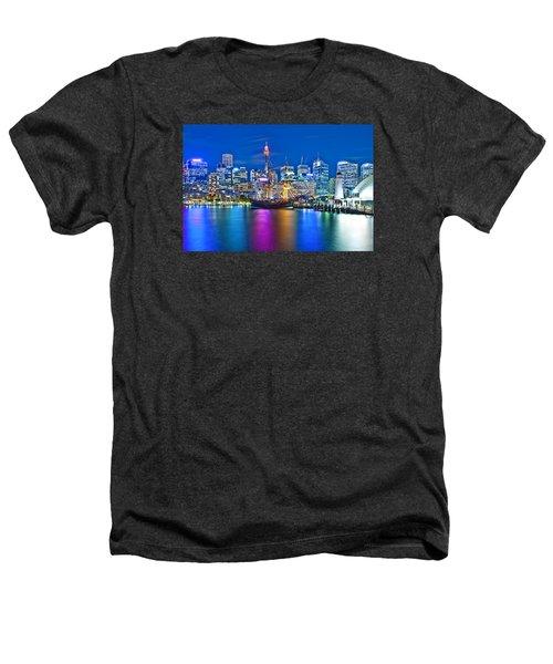 Vibrant Darling Harbour Heathers T-Shirt by Az Jackson