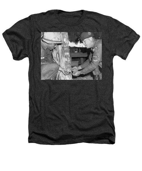 Viet Cong Booby Trap Heathers T-Shirt by Underwood Archives