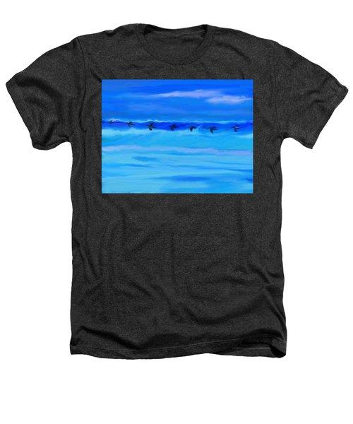 Vol De Pelicans Heathers T-Shirt by Aline Halle-Gilbert