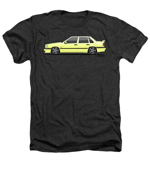 Volvo 850r 854r T5-r Creme Yellow Heathers T-Shirt by Monkey Crisis On Mars