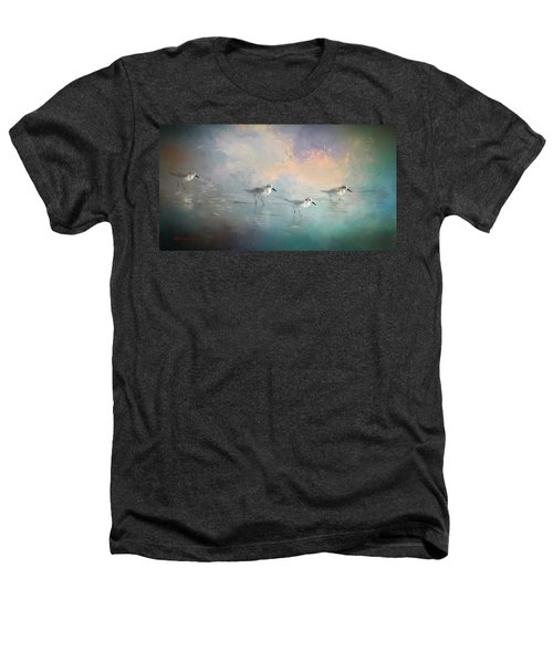 Walking Into The Sunset Heathers T-Shirt by Marvin Spates