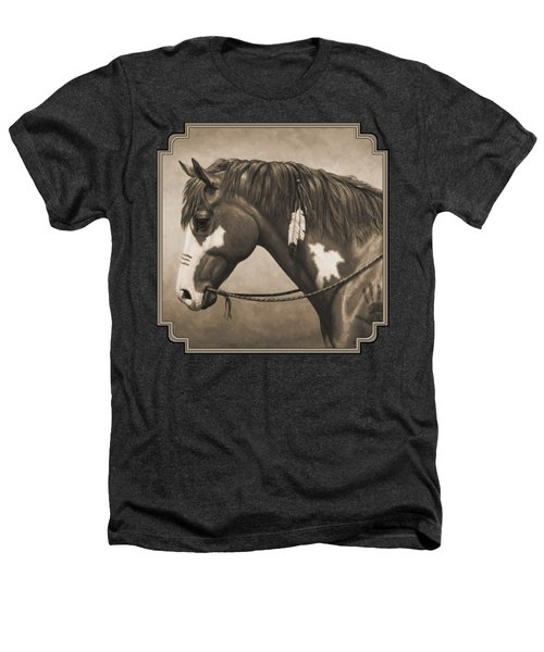 War Horse Aged Photo Fx Heathers T-Shirt by Crista Forest