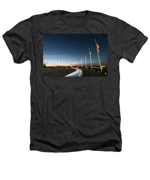 Washington Monument Flags Heathers T-Shirt