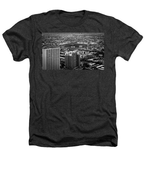 Wrigley Field Park Place Towers Day Bw Dsc4575 Heathers T-Shirt by Raymond Kunst