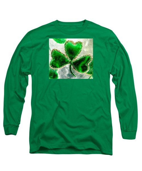 A Shamrock On Ice Long Sleeve T-Shirt