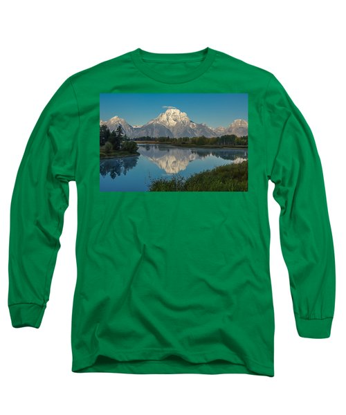 Reflections Of Mount Moran Long Sleeve T-Shirt