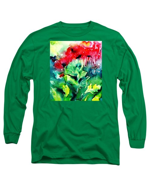 A Haze Of Poppies Long Sleeve T-Shirt by Trudi Doyle