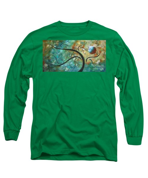 Abstract Landscape Painting Digital Texture Art By Megan Duncanson Long Sleeve T-Shirt