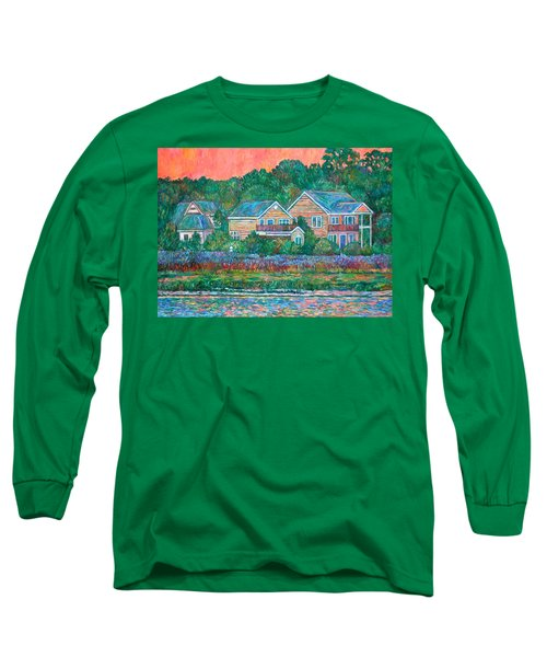 Long Sleeve T-Shirt featuring the painting Across The Marsh At Pawleys Island       by Kendall Kessler