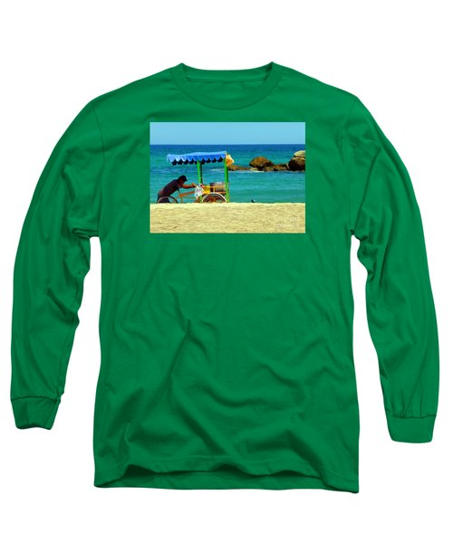 Beach Entrepreneur In San Jose Del Cabo Long Sleeve T-Shirt by Barbie Corbett-Newmin