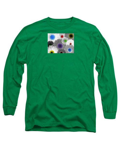 Long Sleeve T-Shirt featuring the digital art Behind Every Black And White Dream Theres A Rainbow Waiting To Be Seen by Janice Westerberg
