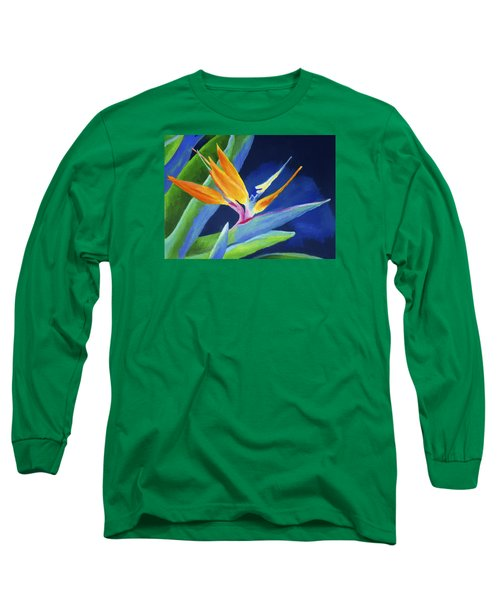 Bird Of Paradise Long Sleeve T-Shirt by Stephen Anderson