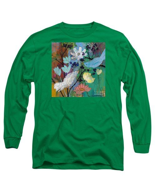 Birds And Berries Long Sleeve T-Shirt
