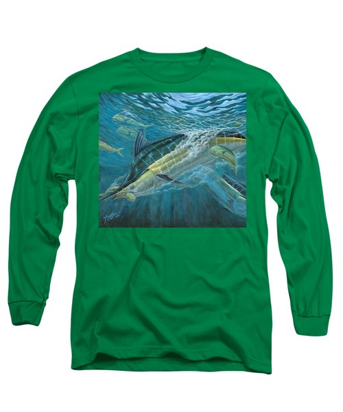 Blue And Mahi Mahi Underwater Long Sleeve T-Shirt
