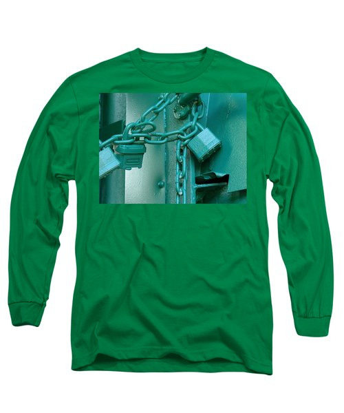 Long Sleeve T-Shirt featuring the photograph Blue Locks by Rodney Lee Williams