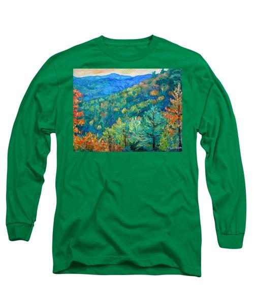 Blue Ridge Autumn Long Sleeve T-Shirt by Kendall Kessler