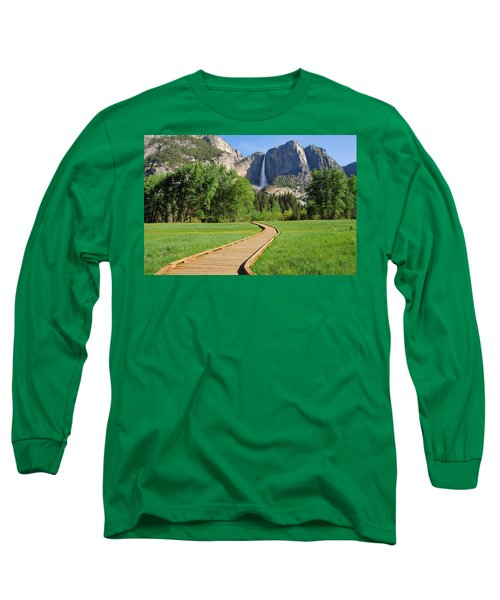Boardwalk To Yosemite Falls  Long Sleeve T-Shirt