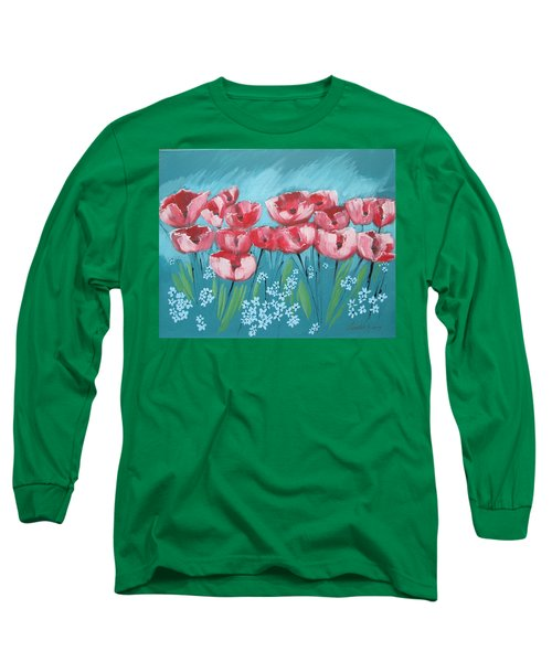 Brezzy Poppies Long Sleeve T-Shirt