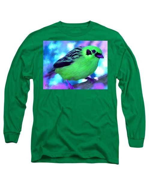 Bright Green Finch Long Sleeve T-Shirt