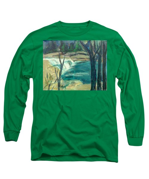 Long Sleeve T-Shirt featuring the painting Canajoharie Creek Near Village by Betty Pieper