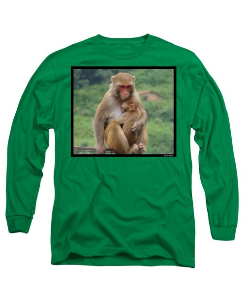 Long Sleeve T-Shirt featuring the photograph Care by Bliss Of Art