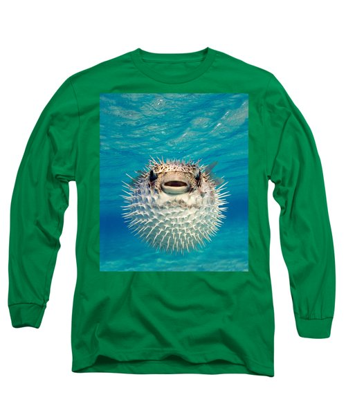 Close-up Of A Puffer Fish, Bahamas Long Sleeve T-Shirt