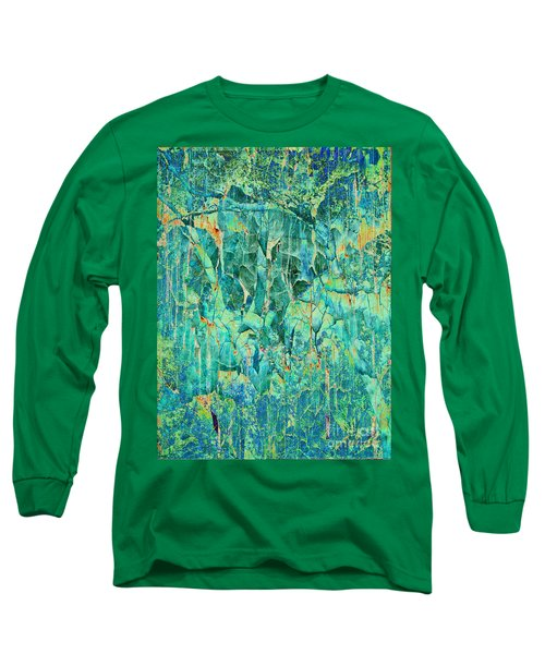 Cracks In Blue Long Sleeve T-Shirt