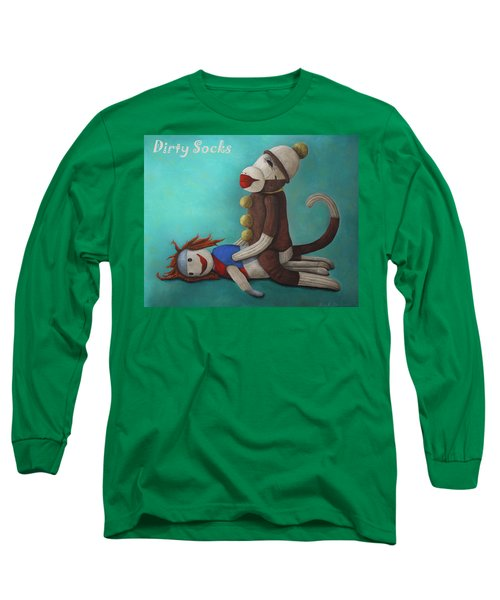 Dirty Socks 4 With Lettering Long Sleeve T-Shirt