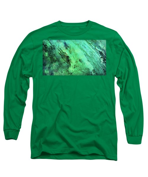 Long Sleeve T-Shirt featuring the mixed media Fallen by Ally  White