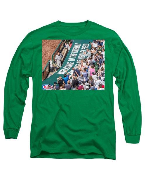 Farewell From The Wrigley Faithful Long Sleeve T-Shirt by Tom Gort