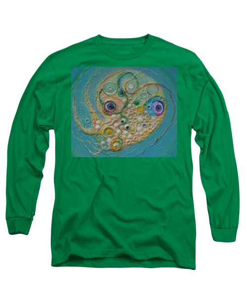 Fried Egg Head Over Queasy Long Sleeve T-Shirt by Douglas Fromm
