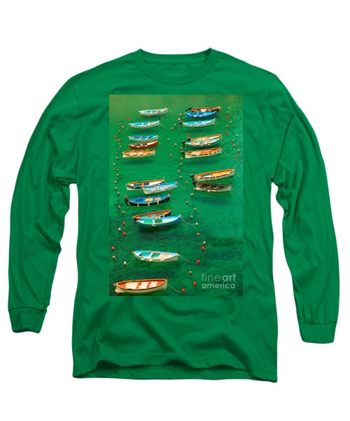 Fishing Boats In Vernazza Long Sleeve T-Shirt
