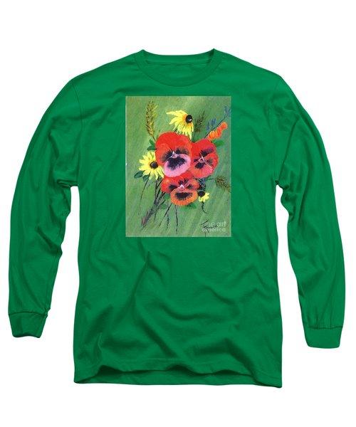 Flower Bunch Long Sleeve T-Shirt by Francine Heykoop
