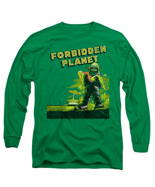 Forbidden Planet - Old Poster Long Sleeve T-Shirt