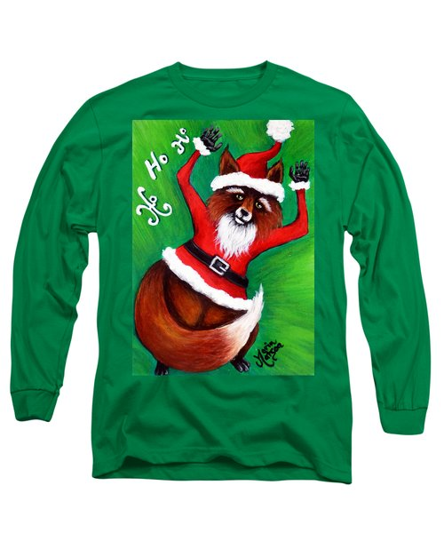 Foxy Santa Long Sleeve T-Shirt