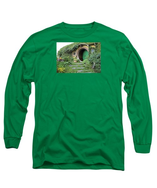 Frodo Baggins Lives Here Long Sleeve T-Shirt by Venetia Featherstone-Witty