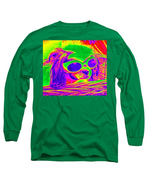 Front Seat Driver Pop Art - Puppy Mania Long Sleeve T-Shirt
