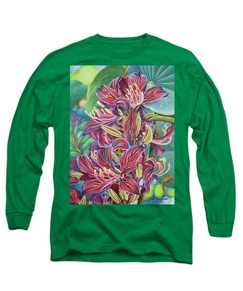 Full Blossom Orchid Tree Long Sleeve T-Shirt