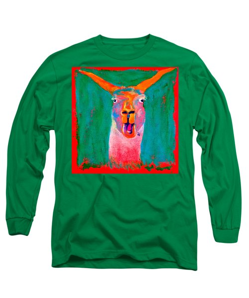 Funky Llama Art Print Long Sleeve T-Shirt