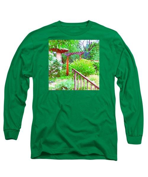 Garden Path With Arbor Long Sleeve T-Shirt