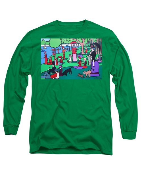 George Seurat- A Cyclops Sunday Afternoon On The Island Of La Grande Jatte Long Sleeve T-Shirt