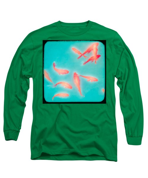 Long Sleeve T-Shirt featuring the photograph Goldfish - Glowing Fish - Gary Heller by Gary Heller