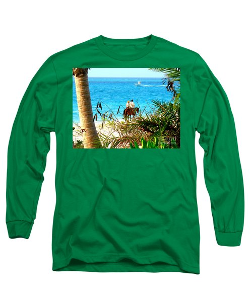 Long Sleeve T-Shirt featuring the photograph Grace Bay Riding by Patti Whitten