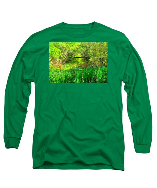 Long Sleeve T-Shirt featuring the photograph Green As Emerald's by Michael Hoard